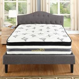 15 inch Hybrid Innerspring and Memory Foam Mattress with Pil