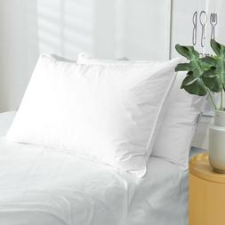 Puredown 2 Pack White Goose Down Feather Bed Pillows Standar