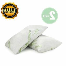 2 PCS Bamboo Shredded Memory Foam Pillow Queen King Size Was