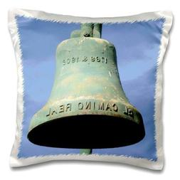 3dRose El Camino Real Bell - Pillow Case, 16 by 16-inch