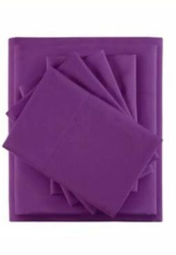 Intelligent Design 4 Piece Twin Sheet Set Purple Side Pocket