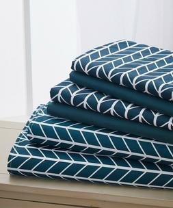 Elegant Comfort 6-Piece Herringbone Pattern Bed Sheet Set