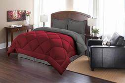 Elegant Comfort Goose Down Alternative Reversible 3pc Comfor