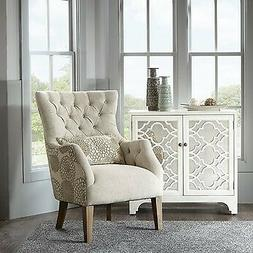 Madison Park Accent Chair With Back Pillow With Beige Multi