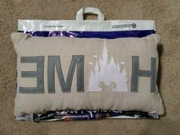 authentic parks home castle throw pillow nwt