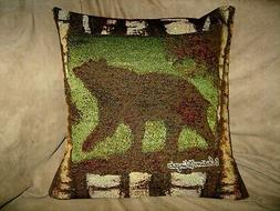 BEAR TAPESTRY PILLOW COVER SIGNED BY ARTIST SUSAN WINGET