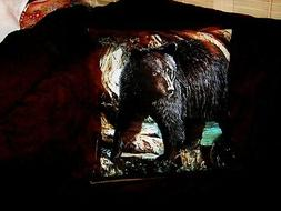 BLACK  BEAR ON CLIFF PILLOW COVER