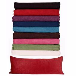 """Body Pillow ) Case Soft Micro Suede New 20""""x 54"""" 8 Colors AV"""