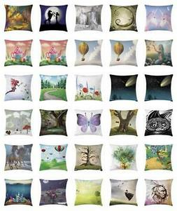Colorful Fantasy Throw Pillow Cases Cushion Covers Home Deco