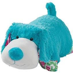 "Pillow Pets Colorful Teal Puppy - 18"" Stuffed Animal Plush T"