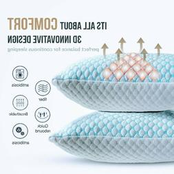 ✅Cooling Memory Foam Ventilated Pillow-Infused Soft Coolin