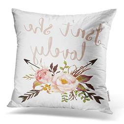 Emvency Decorative Throw Pillow Cover Square Size 18x18 Inch