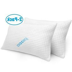 2 Pack Shredded Memory Foam Bed Pillows for Sleeping - Bambo