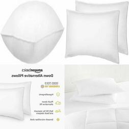 AmazonBasics Down Alternative Bed Pillows for Stomach and Ba