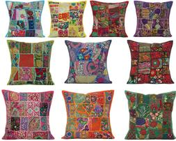 Embroidered Cushion Cover Cotton Pillow Cushion Case Throw S
