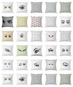 Eyelash Throw Pillow Cases Cushion Covers Ambesonne Accent D