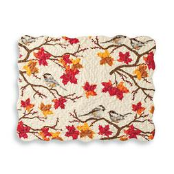 Fall Chickadees on Branches with Leaves All Over Pillow Sham