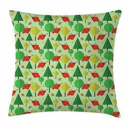 Forest Throw Pillow Cases Cushion Covers by Ambesonne Home A
