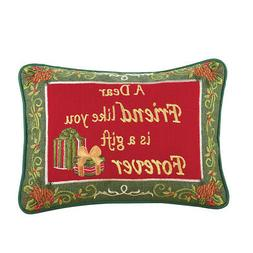 Collections Etc Friendship Christmas Pillow - Gift Forever
