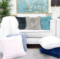 Homey Cozy Fur Throw Pillow Cover Large Cushion Case 20x20""