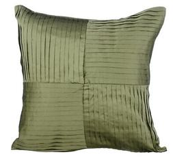 Green Designer Pillow Covers, Polyester Blend fabric 16x16 I