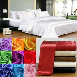 HOTEL BEDDING 1000TC SATIN SILK 3PC  FITTED SHEET & PILLOW C