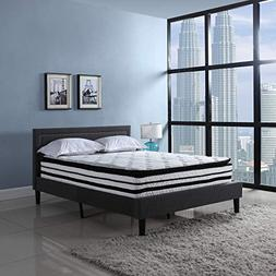 13 inch Hybrid Innerspring and Memory Foam Mattress with Pil