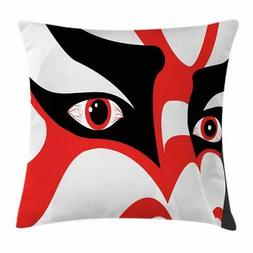 Kabuki Mask Throw Pillow Cases Cushion Covers Home Decor 8 S