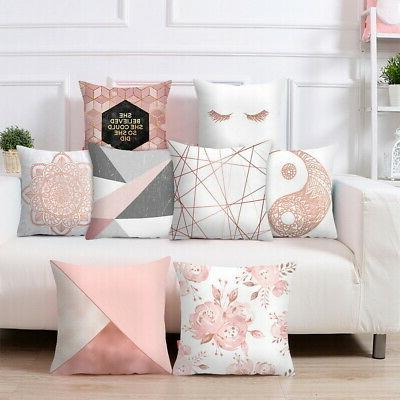 New Rose Gold Pink Series Cushion Cover Throw Pillow Case Pi