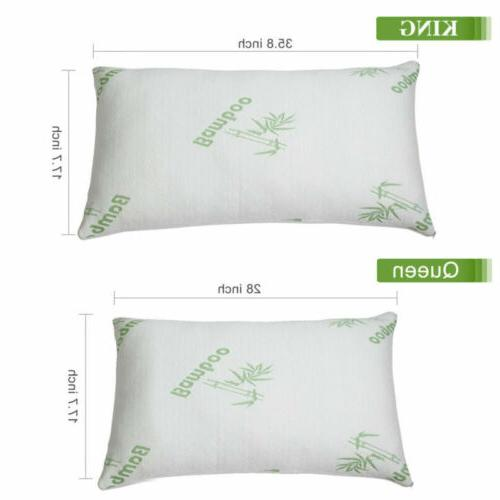 Bamboo Shredded Memory Pillow Queen/King Bed