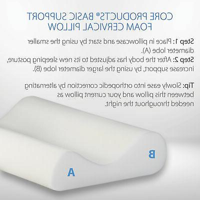 Core Products Basic Foam Cervical Helps Alleviate Neck