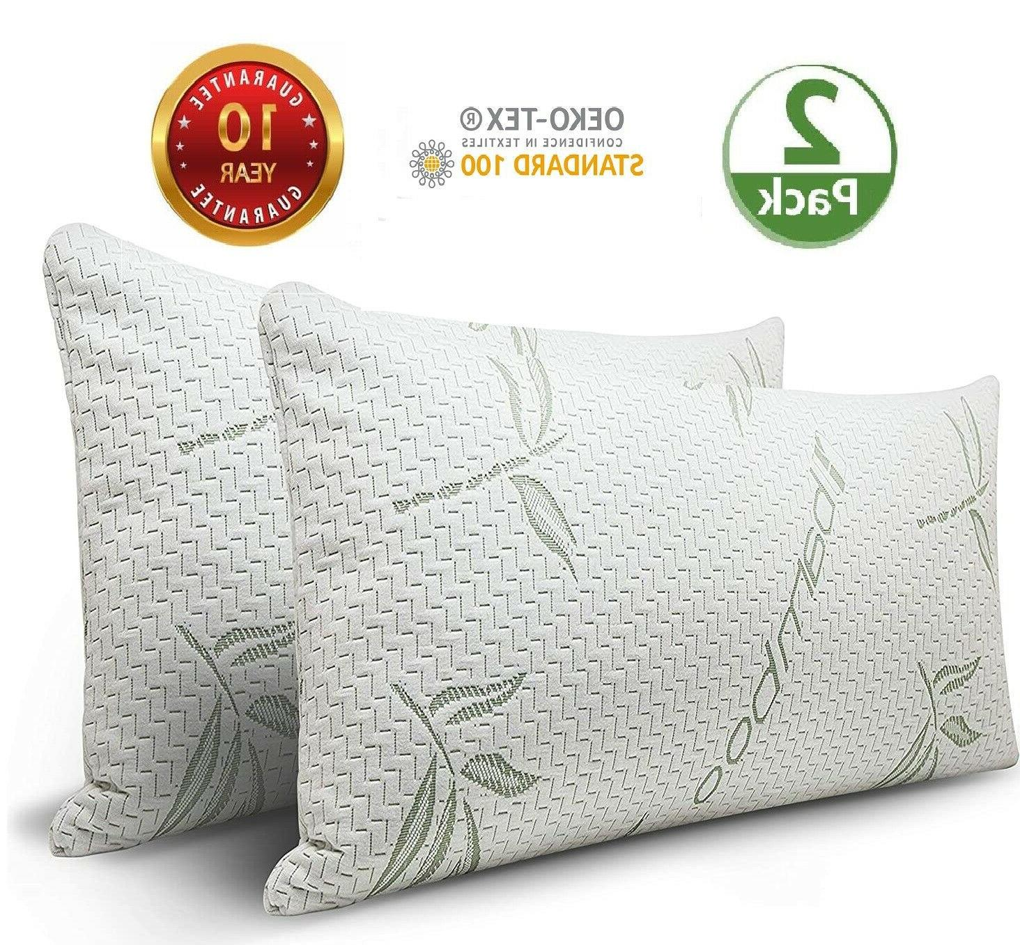 cool bamboo pillow 2 pack adjustable shredded