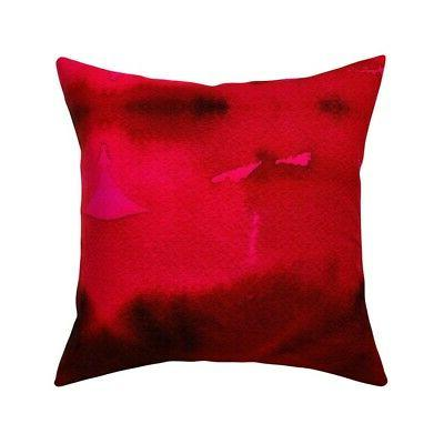 grande passion red abstract throw pillow cover