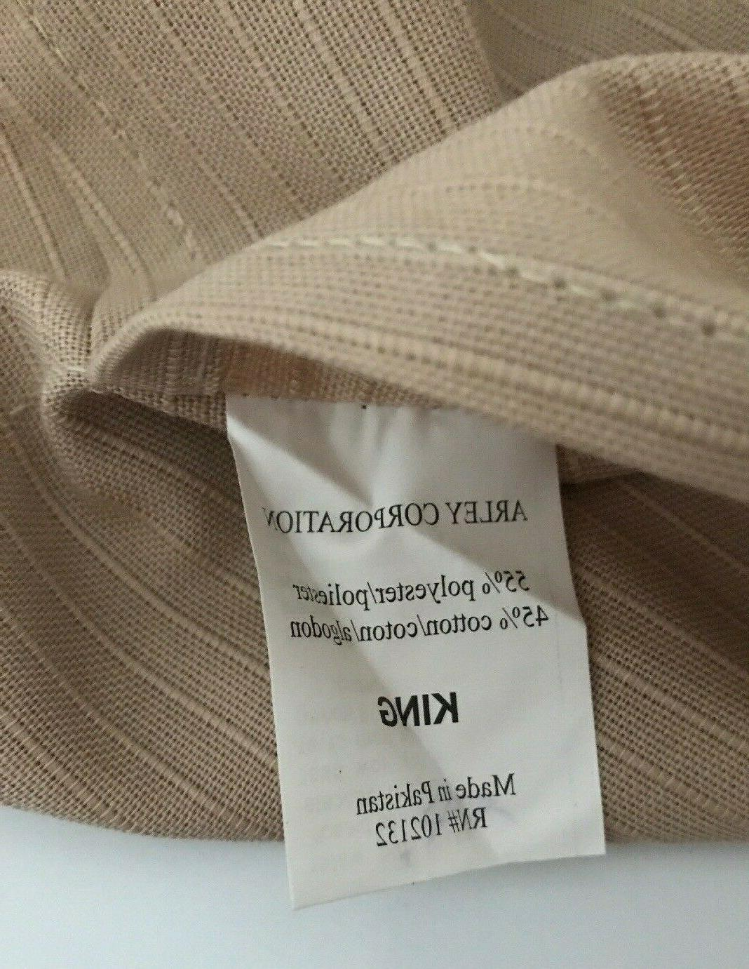King Polyester Cotton Solid Ribbed Design