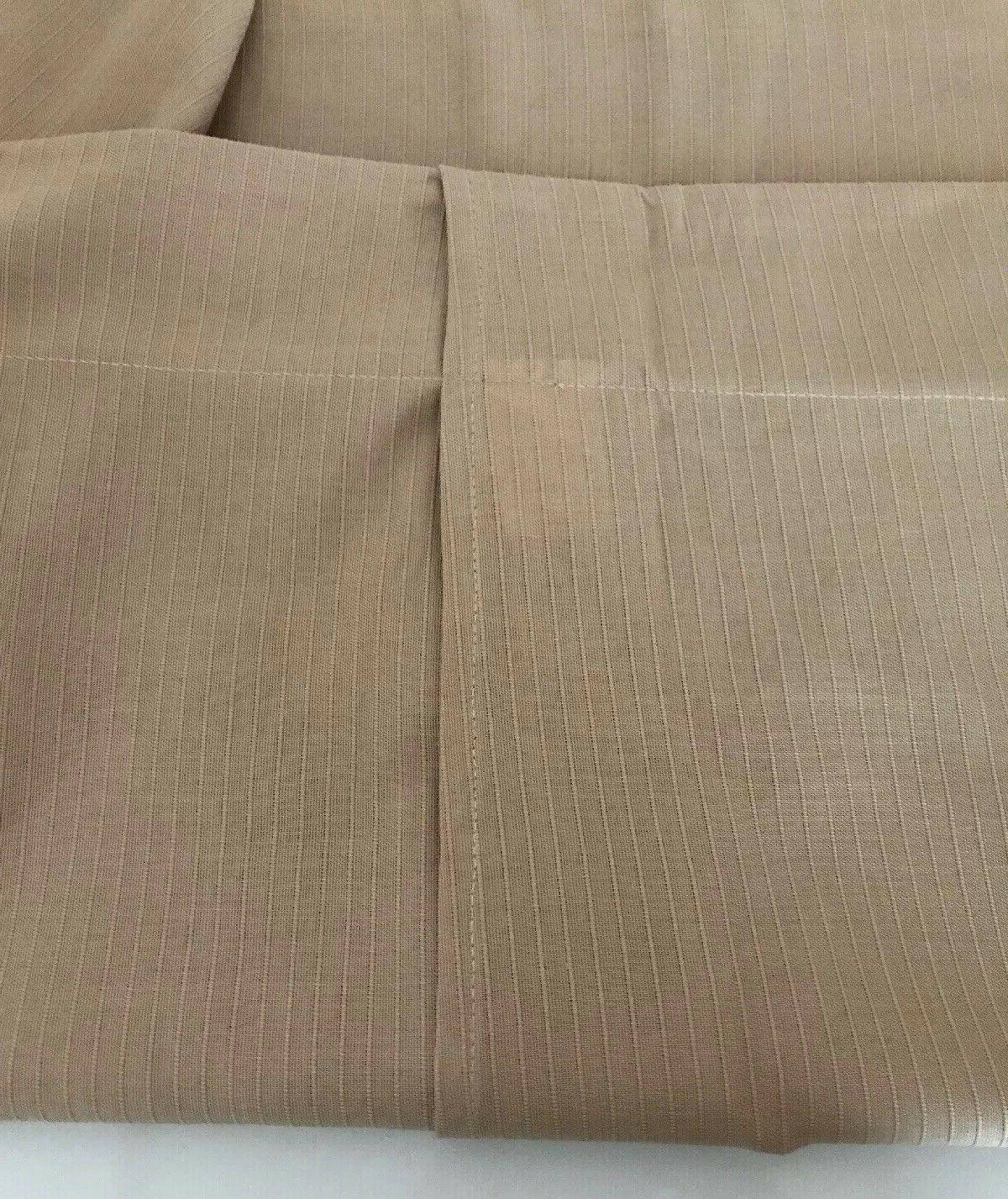 King Size Pillow Polyester Cotton Solid Tan Ribbed