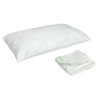 Luxury Bamboo Shredded Memory Foam Pillow with Hypoallergenic Cover Size