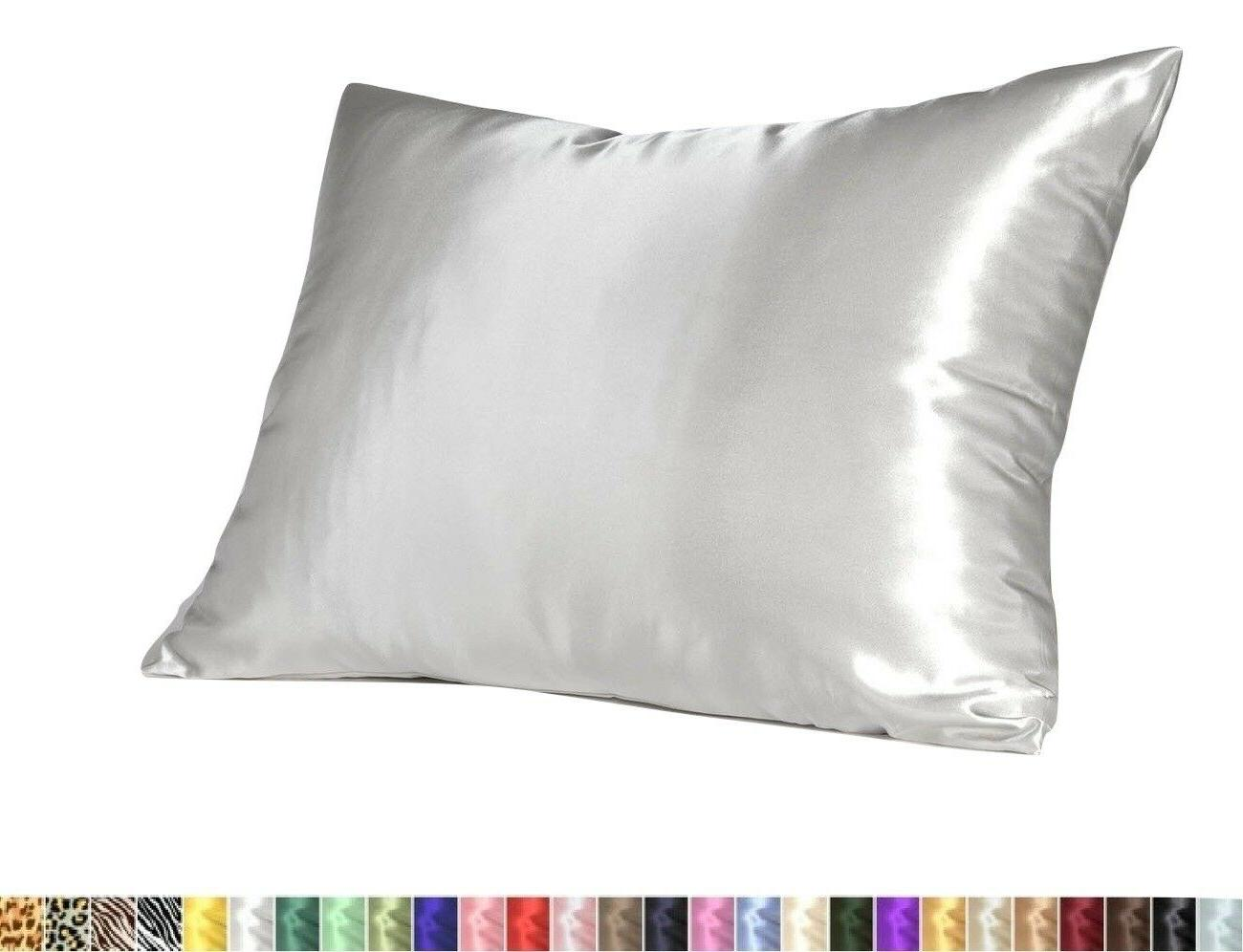 Soft Silky Satin Pillow Case Great For Hair and Skin With Zi