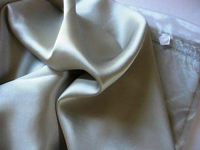 Set of 2 100% mulberry silk pillowcases QUEEN silver pillow