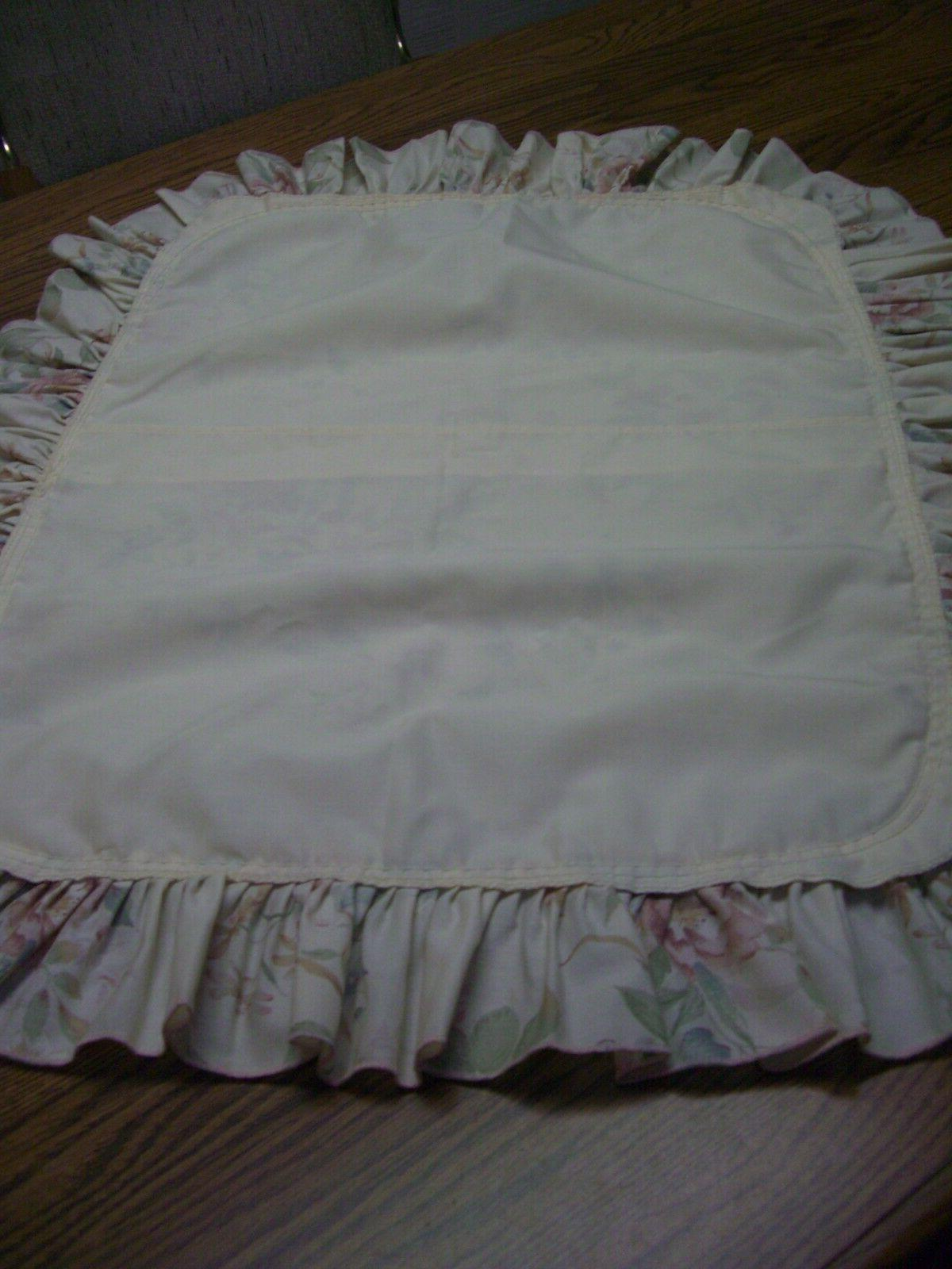"""One Multi-color Floral Cotton/Polyester Blend Pillow Sham/4"""" Ruffle"""