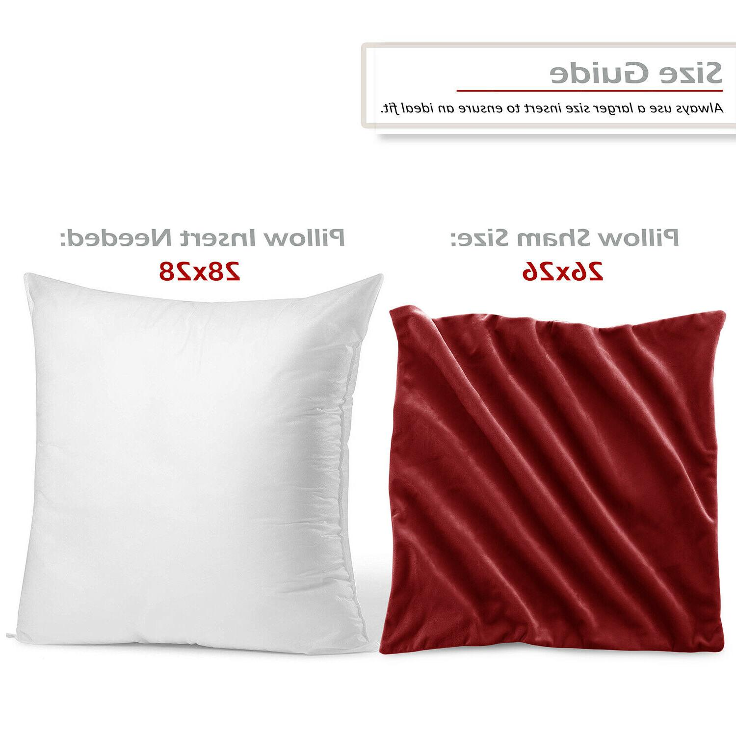 Throw Pillow Covers of Velvet Cases Sizes 36 Colors!