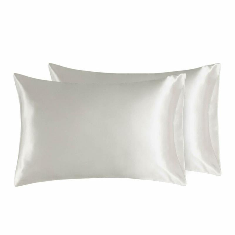 Bedsure Two- Satin Pillowcases Set For Hair Cool And Easy To