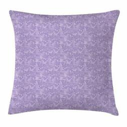 Lilac Throw Pillow Cases Cushion Covers by Ambesonne Home De
