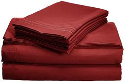 Elegant Comfort Luxury 4-Piece Bed Sheet Set 1500 Thread Cou