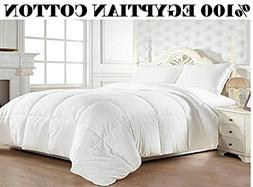Luxury Goose Down Comforter 1200 TC Alternative 100% Egypt C