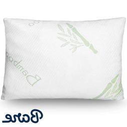 Luxury Shredded Memory Foam Pillow - Removable Bamboo Cover