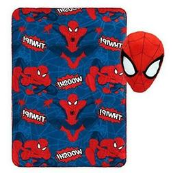 """Jay Franco Marvel Spiderman Whoosh Plush Pillow and 40"""" x 50"""