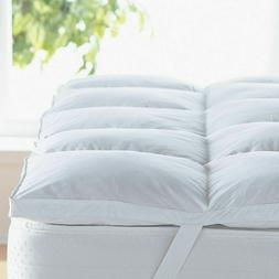 Mattress Topper Bed Pad Cover Hypoallergenic Pillow Top Soft