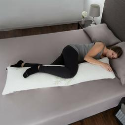 Memory Foam Body Pillow Charcoal Infused Aching Legs RLS Zip
