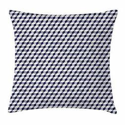Navy Blue Throw Pillow Cases Cushion Covers by Ambesonne Home Decor 8 Sizes