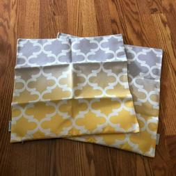 NWOT Pair of CaliTime Yellow to Gray Ombre Pillow Covers 17""